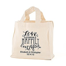 Love, Laughter & Happily Ever After Personalized Tote Bag