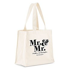 Mr. & Mr. Personalized Tote Bag