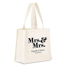 Mrs. & Mrs. Personalized Tote Bag