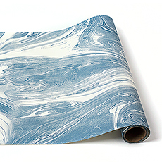 Blue Marble Paper Table Runner