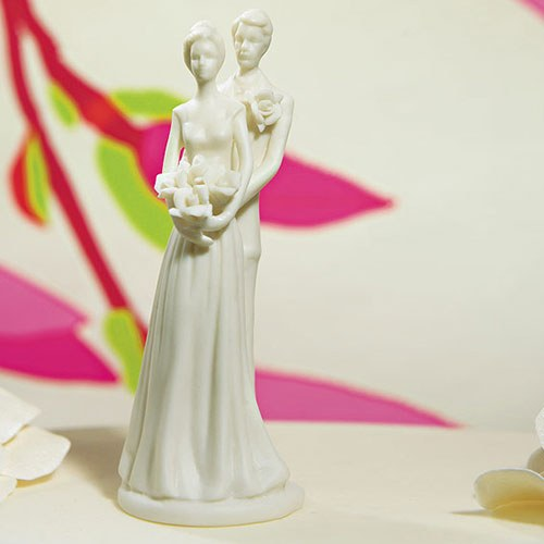Contemporary Bride & Groom Figurine