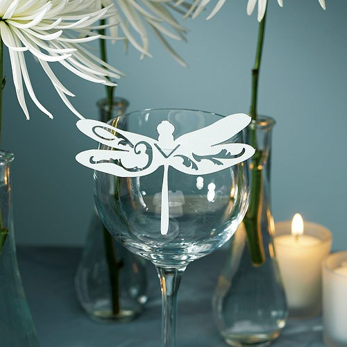 Laser Expressions Dragonfly Die Cut Card These beautiful dragonflies are