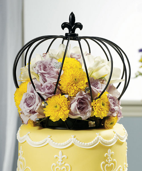 large crown cake topper centerpiece royal wedding supplies cake cage