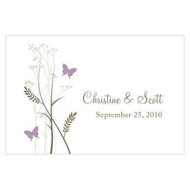 Romantic Butterfly Large Rectangular Wedding Favor and Place Card Tag