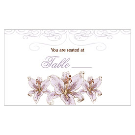 Lily Escort Card