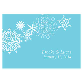 Winter Finery Large Rectangular Wedding Favor Tag