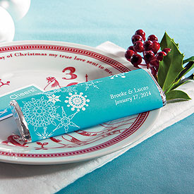 Winter Finery Chocolate Bar Wedding Favor