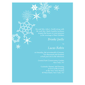 Winter Finery Wedding Invitation