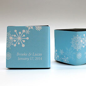 Winter Finery Wedding Favor Box Wrap