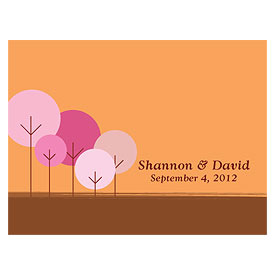 round tree wedding note card stationery