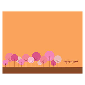 round tree wedding bulletin stationery