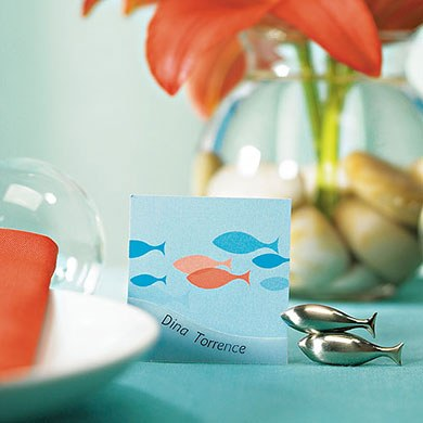 Of All The Fish In The Sea Square gift and Favor Tag
