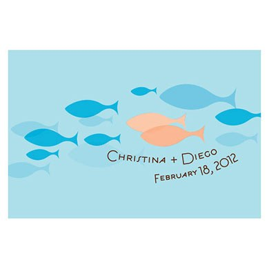 Of All The Fish In The Sea Large Rectangular gift Tag