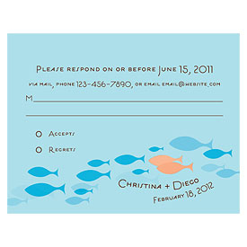 Of All The Fish In The Sea RSVP Cards