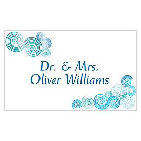 Sea Breeze Wedding Escort Table Sign Card
