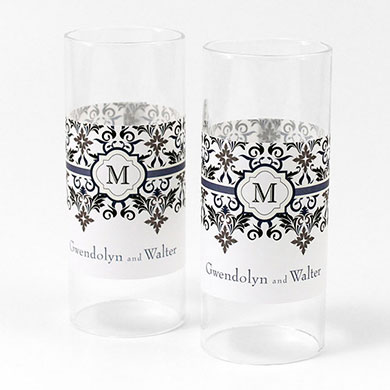 Lavish Monogram Mini Luminary Votive Candle Wrap