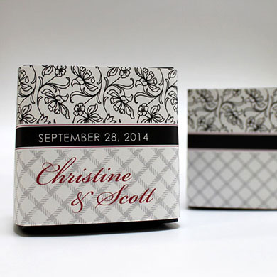Eclectic Pattern Wedding Favor Box Wrap
