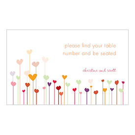 Hearts Escort Card