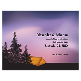 Camping Wedding Save The Date Card