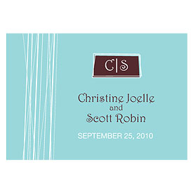 modern medley large rectangular wedding tag stationery