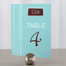 Modern Medley Wedding Reception Table Number
