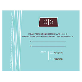 Modern Medley Wedding RSVP Card