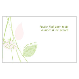 Green Organic Escort Card