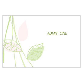 Green Organic Large Drink Tickets
