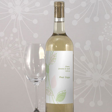 Green Organic Wine Label