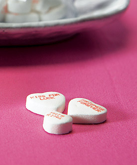 Conversation Hearts Wedding Favor Candy