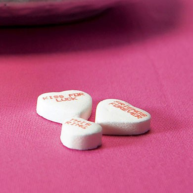 Conversation Hearts Wedding Favor Candy Large