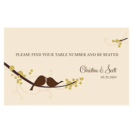 love bird wedding escort table sign stationery