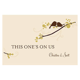 love bird large wedding ticket stationery