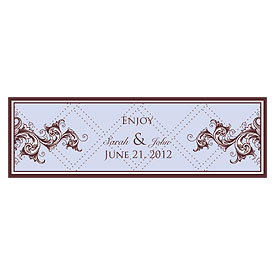 Victorian Small Rectangular Wedding Favor and Gift Tag