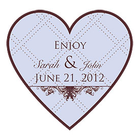 Victorian Heart Wedding Favor Sticker