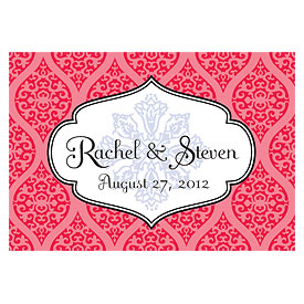 Moroccan Large Rectangular Wedding Favor and Place Card Tag