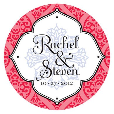 Moroccan Small Wedding Favor Sticker