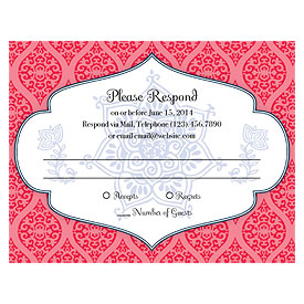 Moroccan Wedding RSVP Card