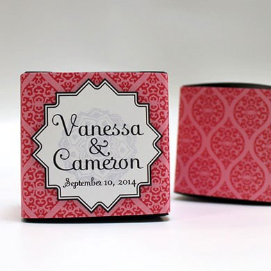 Moroccan Wedding Favor Box Wrap