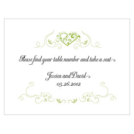 Heart Filigree Wedding Note Cards