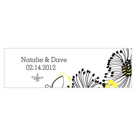 Floral Fusion Small Rectangular Wedding Favor Tag
