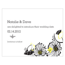 Floral Fusion Wedding Save The Date Card