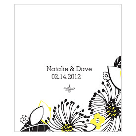 Floral Fusion Rectangular Wedding Favor Label