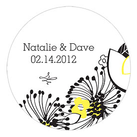 Floral Fusion Large wedding favor Sticker