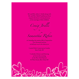 Contemporary Hearts Wedding Invitation Stationery