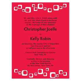 square wedding invitation stationery
