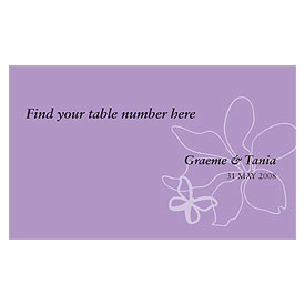 Butterfly Dreams Wedding Reception Escort Table Sign Card