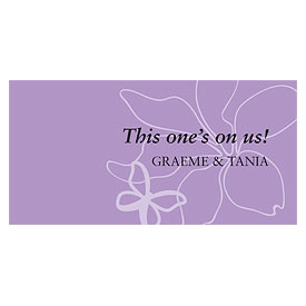 Butterfly Dreams Small Wedding Drink Ticket