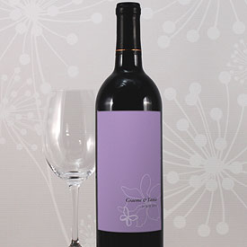 Butterfly Dreams Wedding Wine Bottle Label