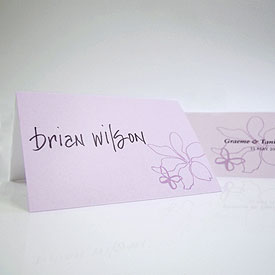 Butterfly Dreams Place Card With Fold